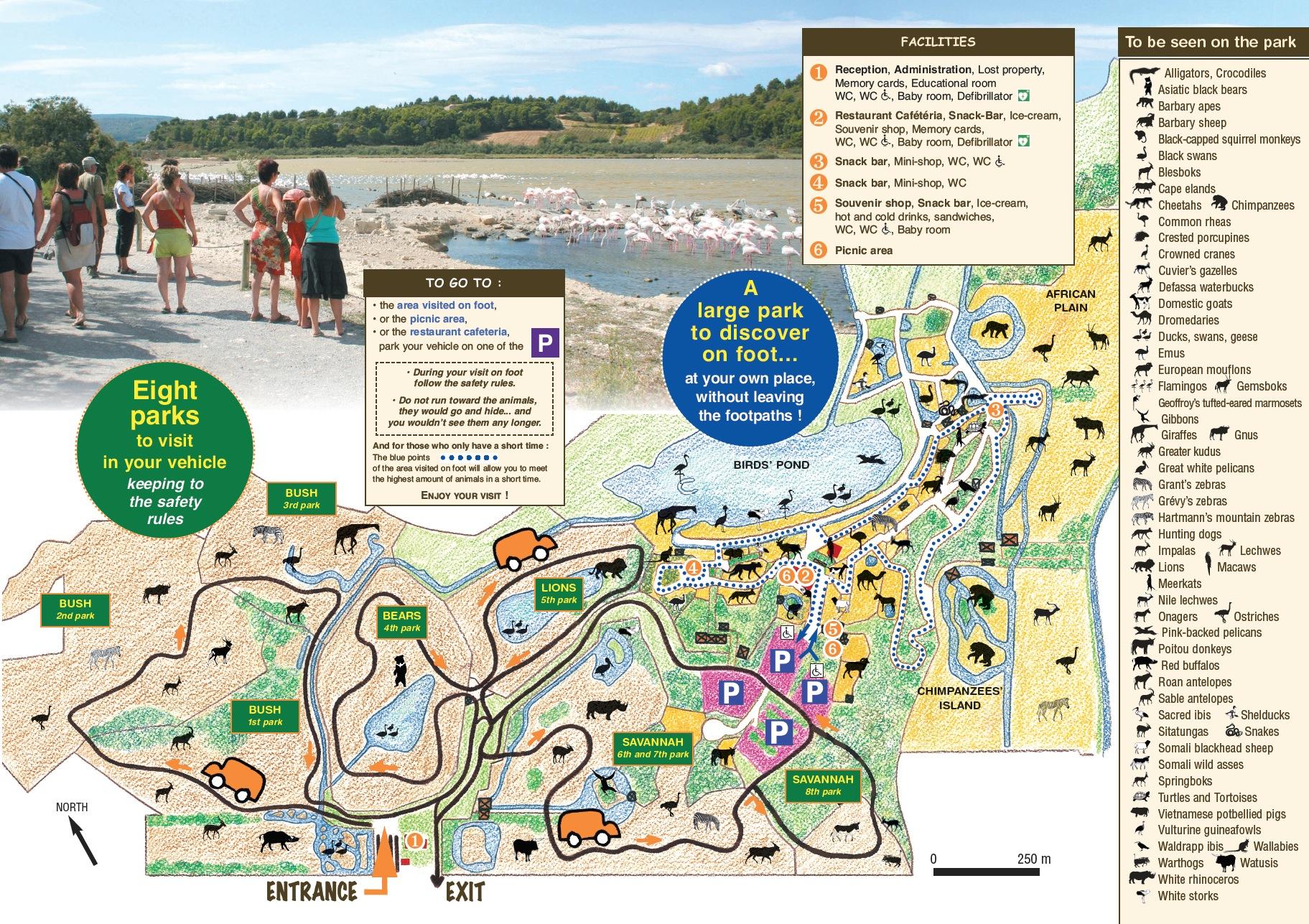 Plan du parc en anglais